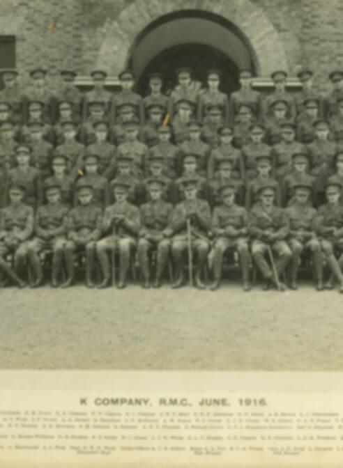 "Royal Military College - K Company Records - Photo Album September 1913-December 1919 - ""K"" Company - June 1916"