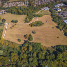 2019 09 September Aerial View of Houghton Houghton Regis Looking North West Across Houghton Hall Park