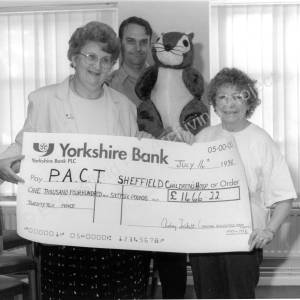 Parish Council Office High Green Cheque Presentation to P.A.C.T.1998