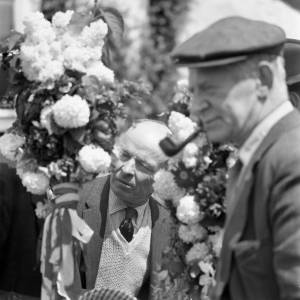 Gentlemen at the Fownhope Flower Walk, 1969