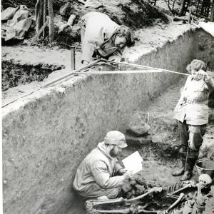 Sutton Walls, excavations, 1949