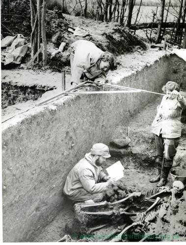 Sutton Walls, excavations, 1949