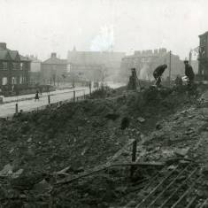 Bomb Damage to Dean Terrace and Prince Edward Road.