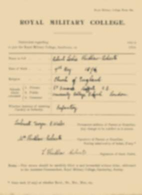 RMC Form 18A Personal Detail Sheets Jan 1915 Intake - page 76