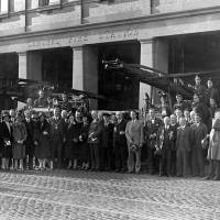 Group photograph taken outside Central Fire Station, Bootle, C1930