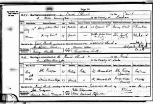 Marriage Certificate - John Pridgeon
