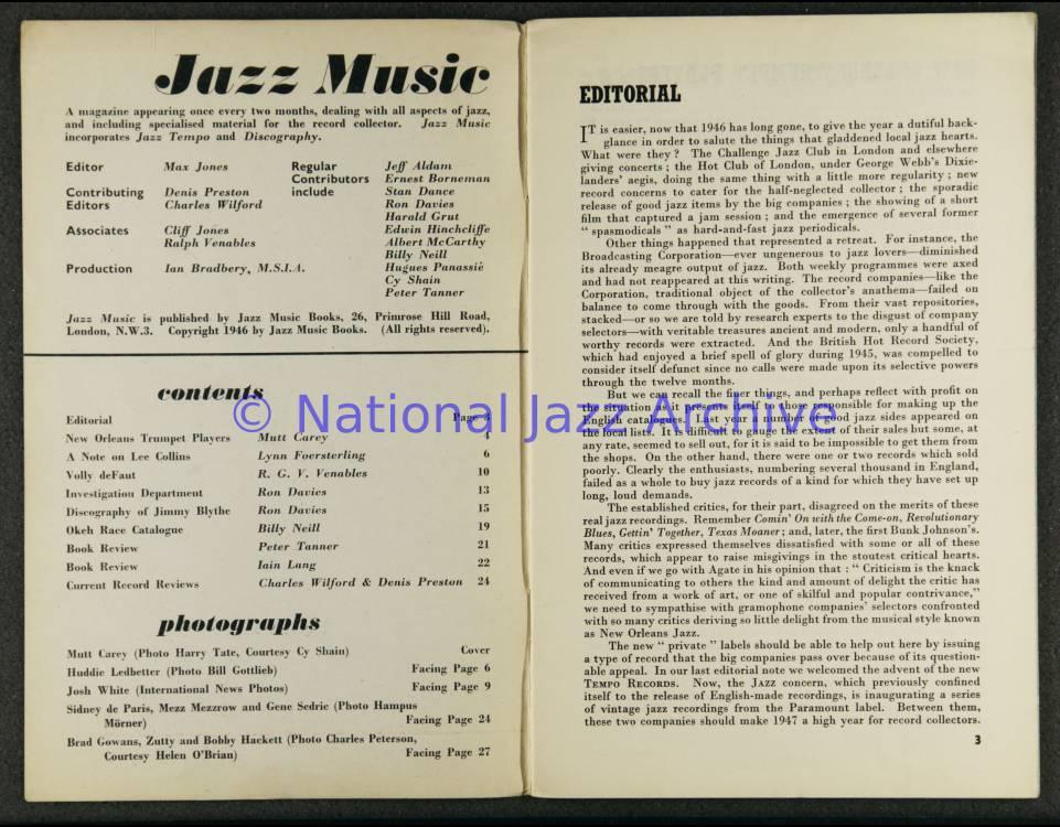 Jazz Music Vol 3 No 4 1947 0001 - National Jazz Archive