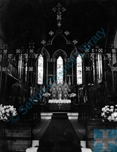 Christ Church, Interior, Merton Road, Bootle, 1982