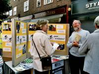 Stall at the European Car Free Day, Morden