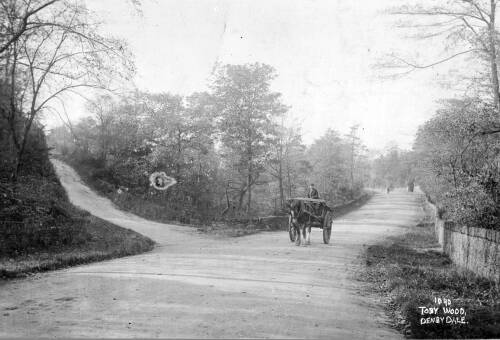 011 Barnsley Road, with road to Toby Wood on left & Catch Bar ahead