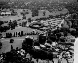 Aerial view of the All England Lawn Tennis Club, Church Road, Wimbledon