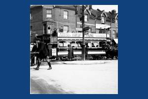 Tram on Merton High Street