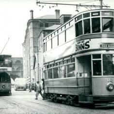Tram 16 and 37 in Slake Terrace, Tyne Dock