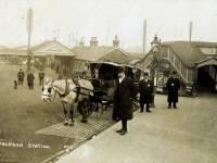 Hansom cab outside Wimbledon Station