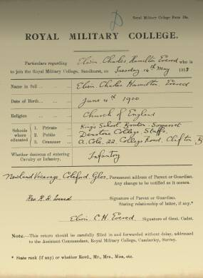 RMC Form 18A Personal Detail Sheets May & Sept 1918