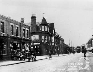 Merton High Street: Nelson Pub and Abbey Parade