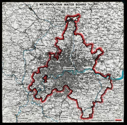 50 miles around London map