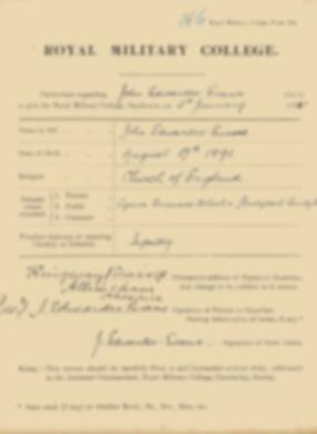 RMC Form 18A Personal Detail Sheets Jan 1915 Intake - page 112