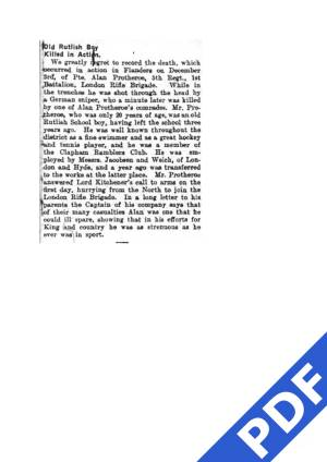 Wimbledon Borough News extact