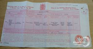 Birth Certificate - Lionel Winnington Forde