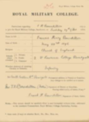 RMC Form 18A Personal Detail Sheets Jan 1915 Intake - page 38