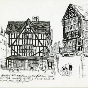 17th Century building move, High Town, Hereford