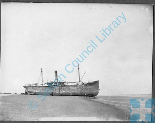 Herclides Ship Wrecked at Crosby shore 15th Oct 1902