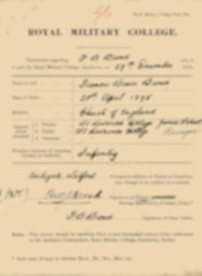 RMC Form 18A Personal Detail Sheets Jan 1915 Intake - page 50