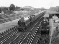 "The ""Lord Anson"" approaching Wimbledon Station"