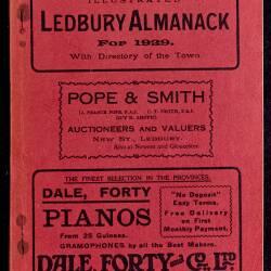 Tilley's Ledbury Almanack 1929