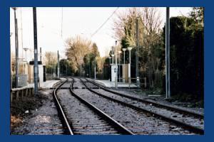 Tramlink, Merton Park tramstop, junction with Kingston Road
