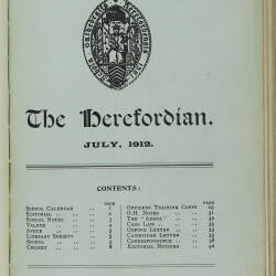 The Herefordian No 70_July 1912