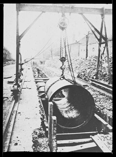 """48"""" cast iron main at Tooting"""