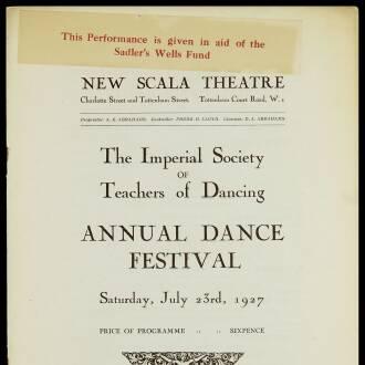 New Scala Theatre, London, July 1927