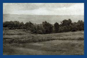 Wimbledon Common looking west, a sketch by W E Pimm
