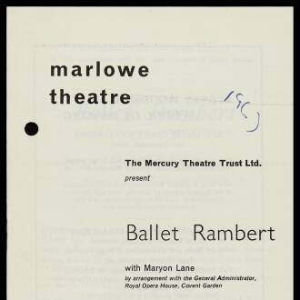 Marlowe Theatre, Canterbury, February–March 1967