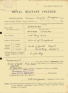 RMC Form 18A Personal Detail Sheets Feb & Sept 1922 Intake - page 156