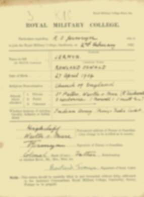 RMC Form 18A Personal Detail Sheets Feb & Sept 1922 Intake - page 77