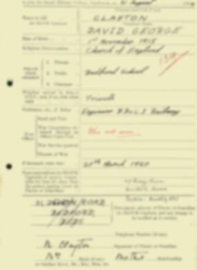 RMC Form 18A Personal Detail Sheets Aug 1934 Intake - page 36