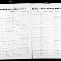 Burial Registers January 1950 to October 1955