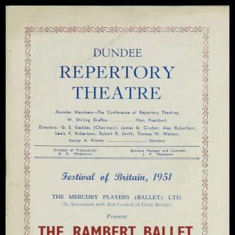 Dundee Repertory Theatre, June 1951