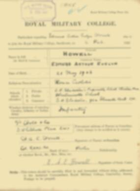 RMC Form 18A Personal Detail Sheets Feb & Sept 1922 Intake - page 71