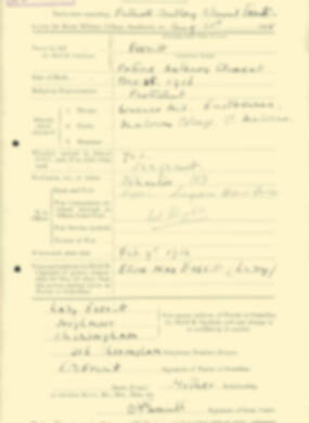 RMC Form 18A Personal Detail Sheets Aug 1935 Intake - page 71