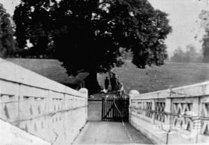 Farm Road, Morden: Field Path and White Bridge