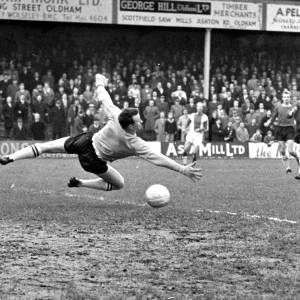 A shot on goal at Edgar Street, 1950s.