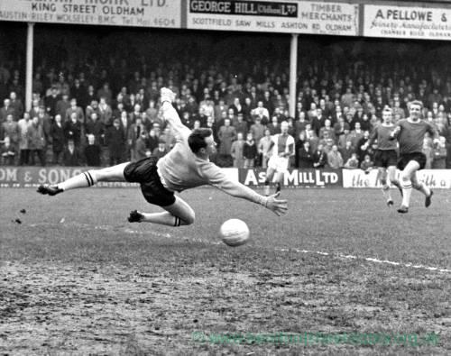 A shot on goal at Edgar Street, 1950s.