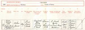 Birth Certificate - Arthur James Block