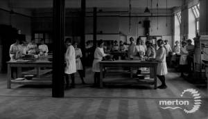Wimbledon County School for Girls: Cookery Class