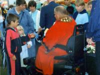 Merton Mayor Slim Flegg at the opening of Mitcham Fair