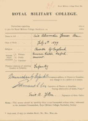 RMC Form 18A Personal Detail Sheets Jan 1915 Intake - page 89